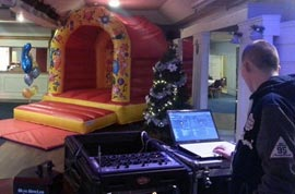 Bouncy Castle and DJ